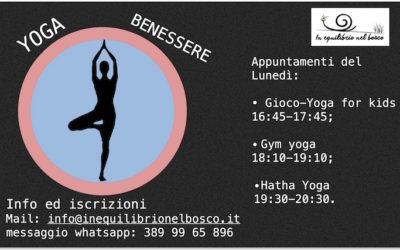 Lunedì a tutto yoga….: Gioco Yoga; Gym Yoga ed Hatha Yoga